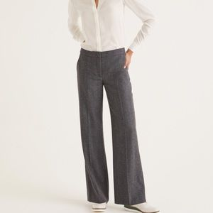 Boden British Heritage Gray Tweed Wide Leg Pants